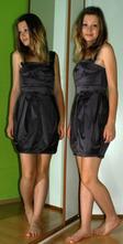 Společenské krátké šedé saténové pouzdrové šaty, miss selfridge,38