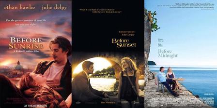 Before Sunrise/Sunset/Midnight - Před úsvitem/soumrakem/polnocí (r. 1995, 2004, 2013)