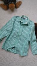 101bc96335 Chlapecká pistáciovo-bílá proužkatá košile zn.zara