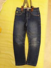 Slim džíny s kšandami, denim co,104