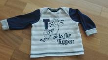 Pruhované triko s tygrem , disney,74