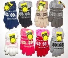 Teplé prstové rukavice s kožíškem, 122 / 128 / 134 / 140