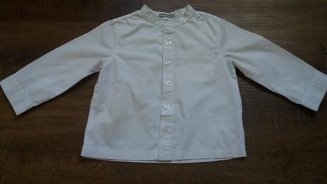 Bílá dívčí košile, vertbaudet,86