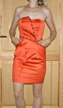 Oranžové šaty jane norman vel 36, xs