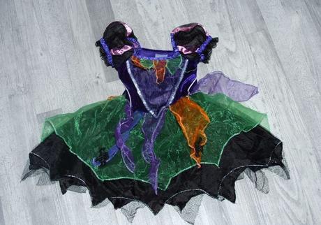 Karnevalové šaty kostým čarodějnice 1-2 roky,