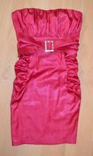 Růžové plesové perleťové šaty, m