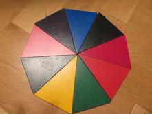 Montessori pomůcka barevný kruh,