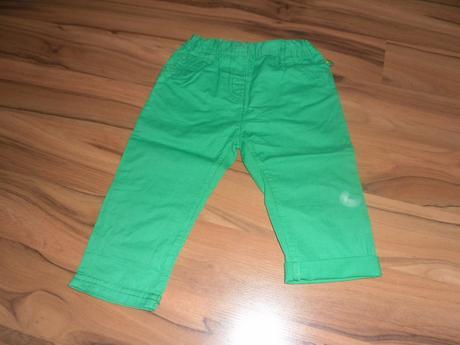 Plátěné kalhoty, vel. 74, ergee,74