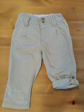 Béžové plátěné kalhoty, h&m,86