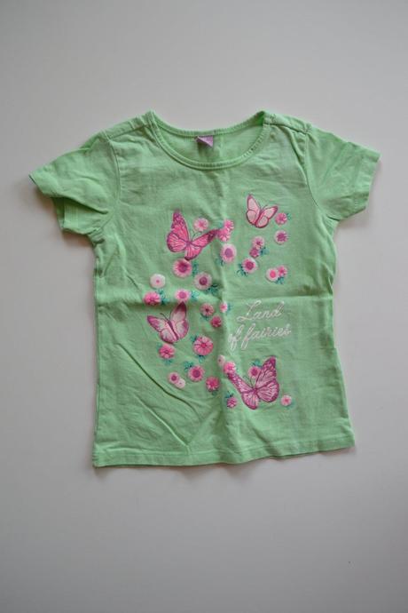 Bavlněné tričko s motýlky, dopodopo,98