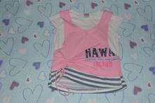 Letní tričko, efekt vrstvení, délka 39cm, good children,110