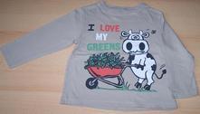 Béžové triko dlouhý rukáv s kravičkou cherokee, cherokee,98
