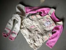 Set manžestrové šatičky, body a punčošky - 62 cm, early days,62