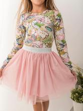 Starorůžová dívčí tylová sukně, 98 - 140