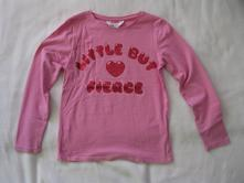 Růžové triko, h&m,122