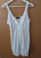 Bílé tričko tílko top delší i pro těhotné melrose, l