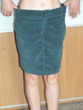 Nenošená menšestrová petrolejová sukně, bonprix,44