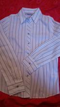 Bílá business košile se zajímavým proužkem, 36