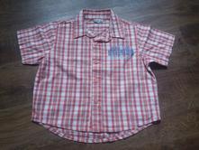 Kostkovaná košile s nápisem, 104