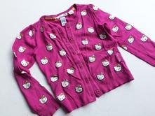 Dívčí svetr kočičky hello kitty č.225, h&m,110