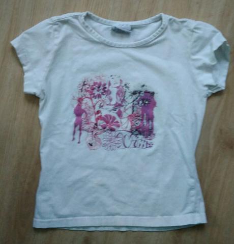 S3 - bílé tričko s fialovým, 110