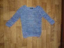Modrý háčkovaný svetr takko, vel.xs, takko,xs