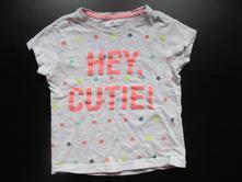 Dívčí šedé tričko s kr. rukávem, v. 98 hey, cutie, pepco,98