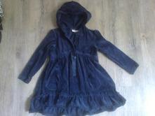 Sametové šaty s kapucí, kappahl,98