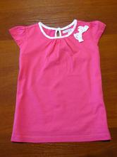 Růžové bavlněné triko vel 104-110, marks & spencer,104