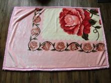 Teplá růžová deka s růžemi 150x 100 cm,