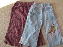 Kalhoty, červené volné, 92