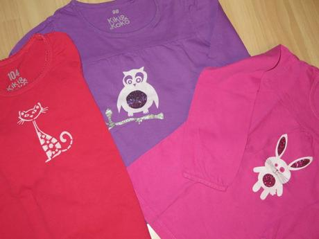 2x ručně malovaná trička, kiki&koko,98