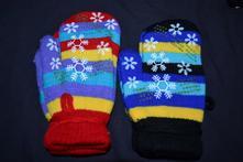 2x  rukavice-palčáky,  s fleece uvnitř, 92 / 98 / 104
