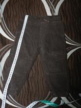 Kalhoty zateplené hnědé, lupilu,86