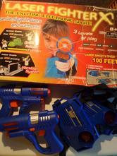 Laserové zbraně s terči,