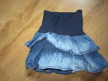 Džínová volánková sukně se všitýma kalhotkama, h&m,74