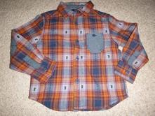Bavlněná teplejší košile s džínovými vsadkami, george,98