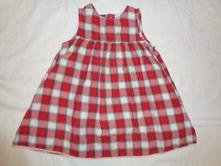 Krásné červenobílé kostičkované šaty, h&m,92