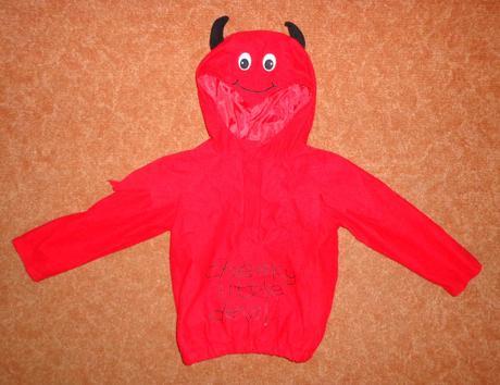 Kostým čert ďábel, george, vel. 3-4 roky.,