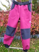 Zimní softshellové kalhoty s fleesem, 80 - 146