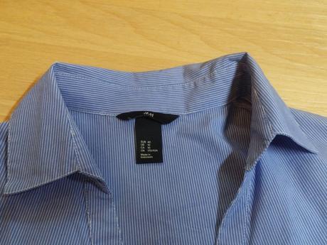 Košile dámská modré pruhy, h&m,40