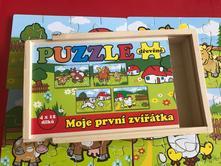 Dřevěné puzzle,