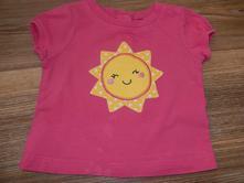 Růžové tričko se sluníčkem, carter's,86