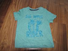 Zelenkavé tričko s potiskem zn. lupilu vel. 86/92, lupilu,86