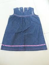 F&f riflové šaty vel.80, f&f,80