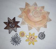 6 různých sluníček,