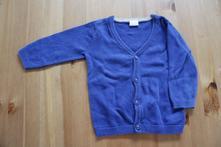 Modrý svetr na propínání, h&m,74