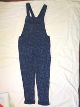 Přepychové modré letní laclové kalhoty - motýli, h&m,140