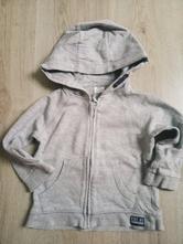 Šedá mikina f&f na zip s kapucí, velikost 86, f&f,86