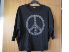 Pěkné, pouze 2x nošené černé bavl. tričko, v. 40, kik,40